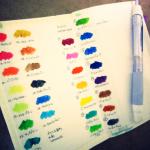 Moleskineにカラーチャート