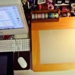 文房具好きの机まわり