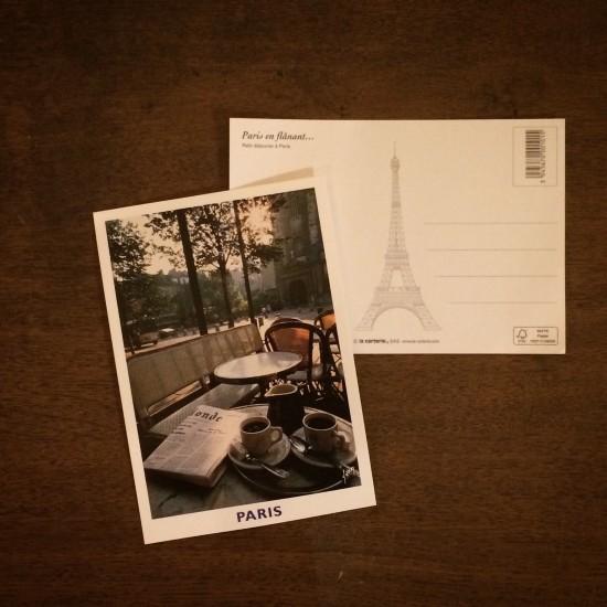 宛名面も洒落ている、パリポストカード。