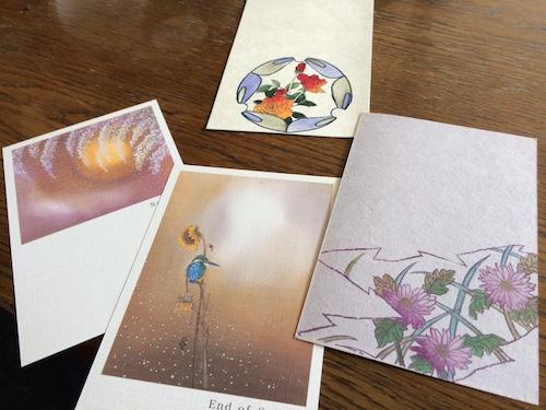 みなとさんの和風カード。