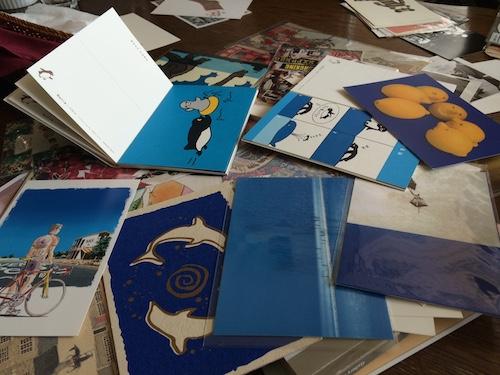 青いカード