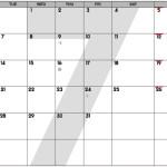 スペシャルバージョン July-August 2015 Calendar