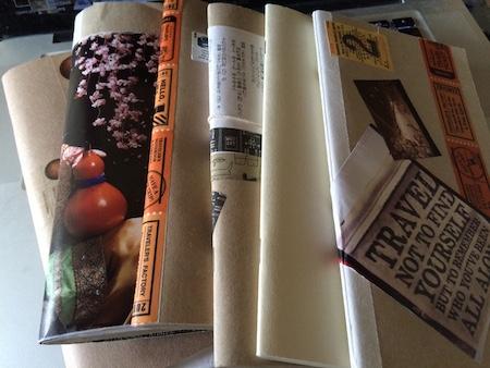 歴代旅ノートブック