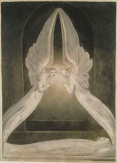 天使に守られる死せるキリスト