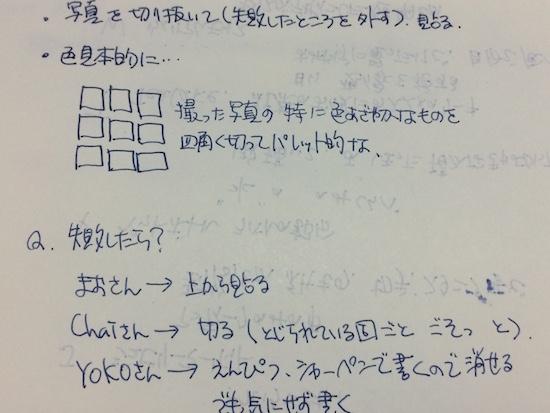 旅ノート 色の見本帳