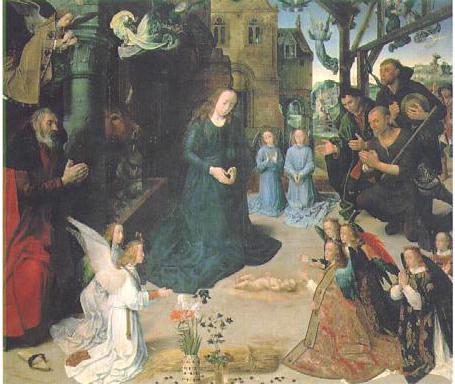 ファン デル フースの羊飼いの礼拝(1475年)祭壇画