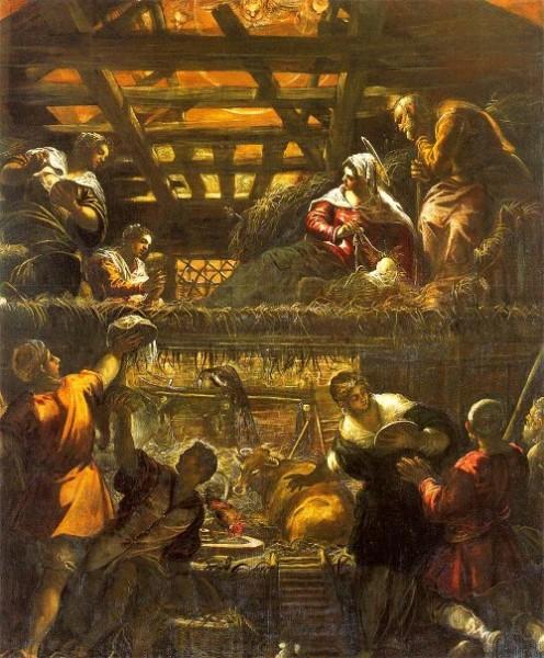 ティントレット 羊飼いの礼拝(1579-1581年)