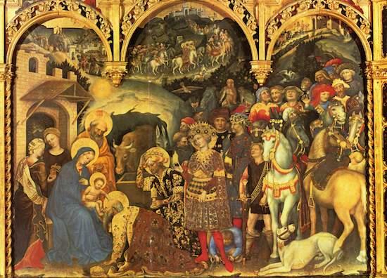 『三博士の礼拝』ジェンテーレ ダ ファブリアーノ 1423年 祭壇画