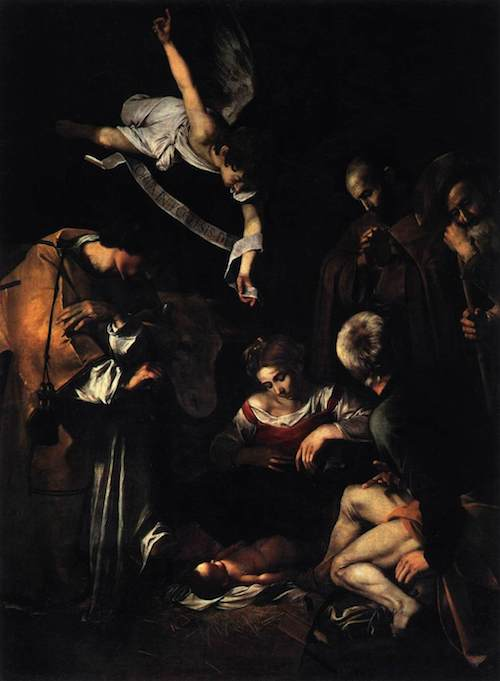 カラヴァッジョ『キリスト降誕』1609年