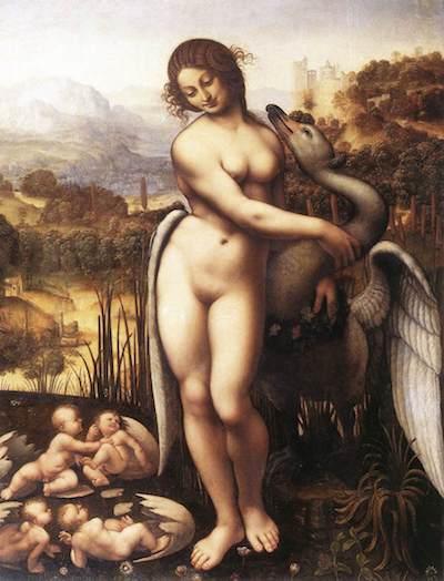 ダヴィンチ先生(が描いたとされる)(現存していないそうです)のレダと白鳥
