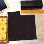 春を見送った編みジッパーケース(②もう夏ね)