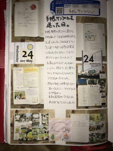 手帳サンプルを送った日のほぼ日手帳カズン
