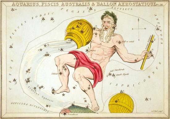 みずがめ座星図