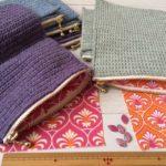 毛糸のジッパーケース販売のお知らせと、ある縫い針との出会いについて