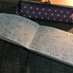 イラストでいっぱいのノートにしたい