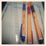 ペンと定規