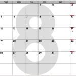 August 2014 Calendar