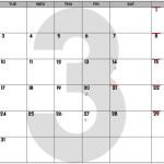 Mar. 2015 Calendar