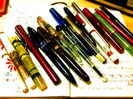 今日の万年筆