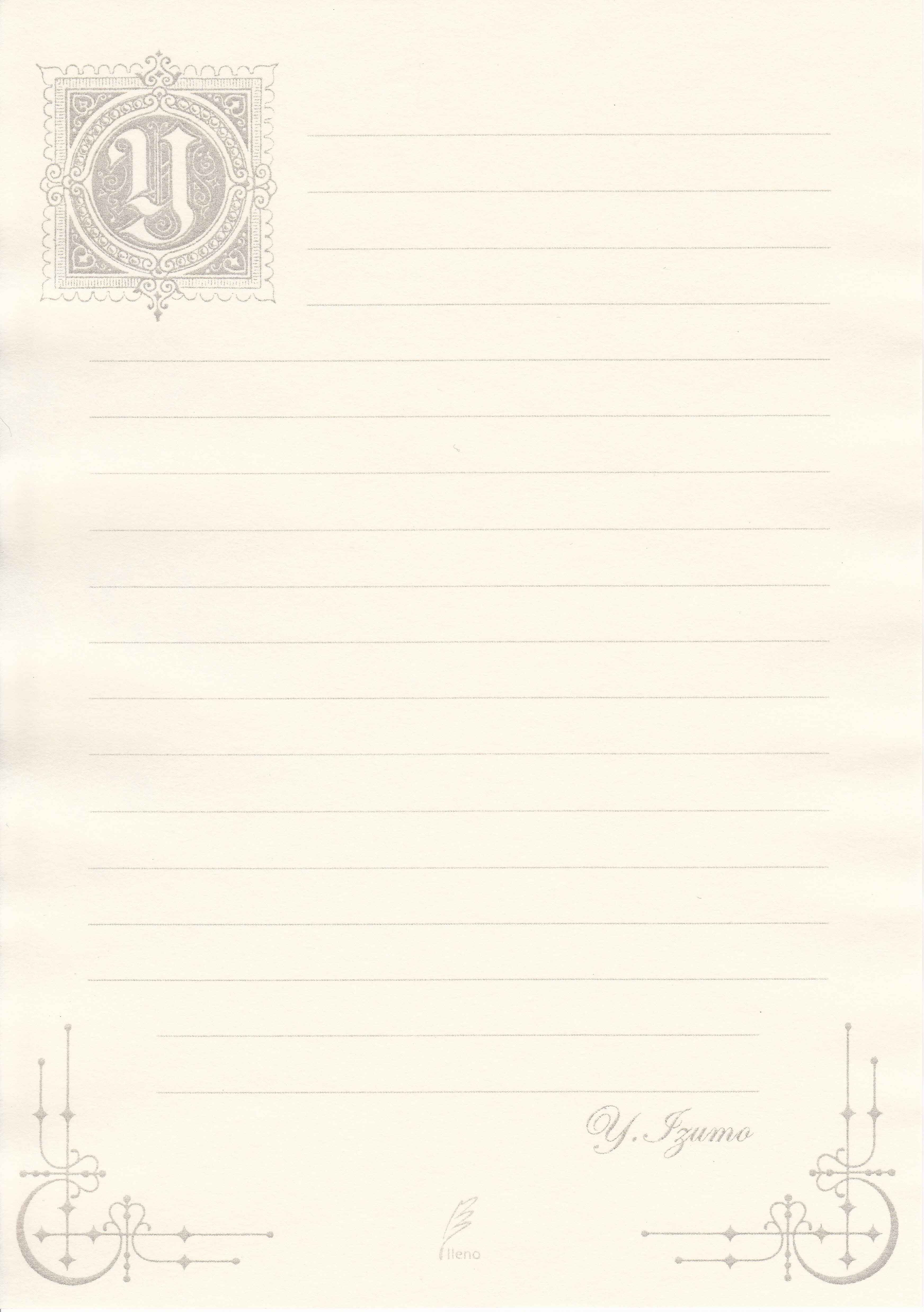 オリジナル便箋 | Notebookers.jp